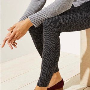 Loft outlet Black and Gray chevron print leggings